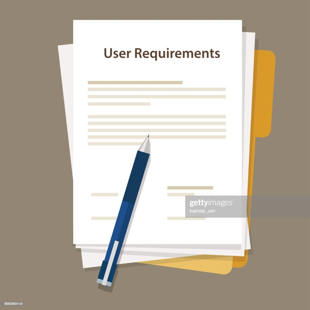 user requirements specifications document paper work