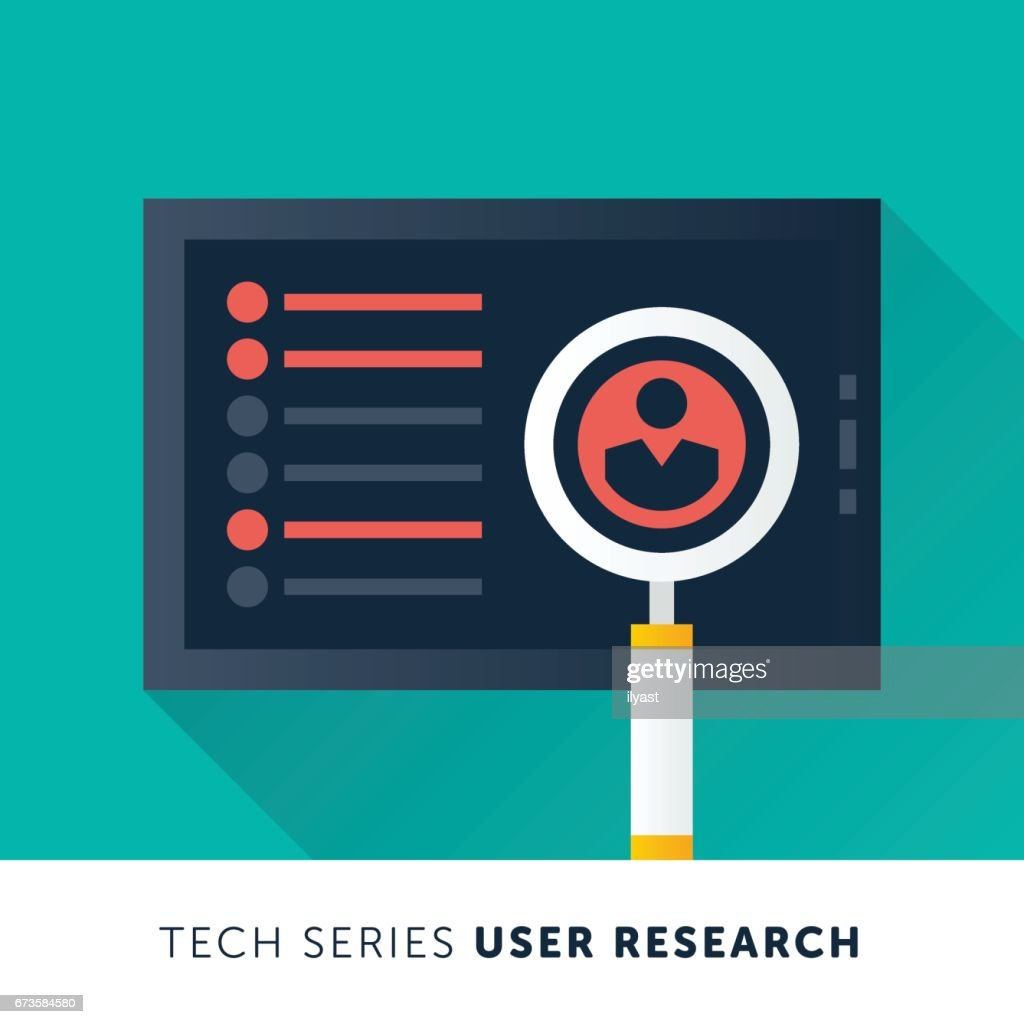 User Research : stock illustration