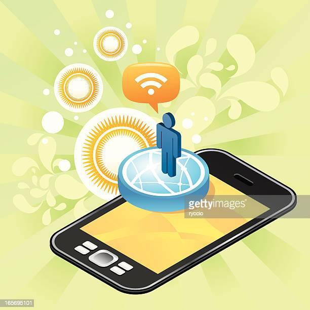 Benutzer, die über die nächste generation Telefon