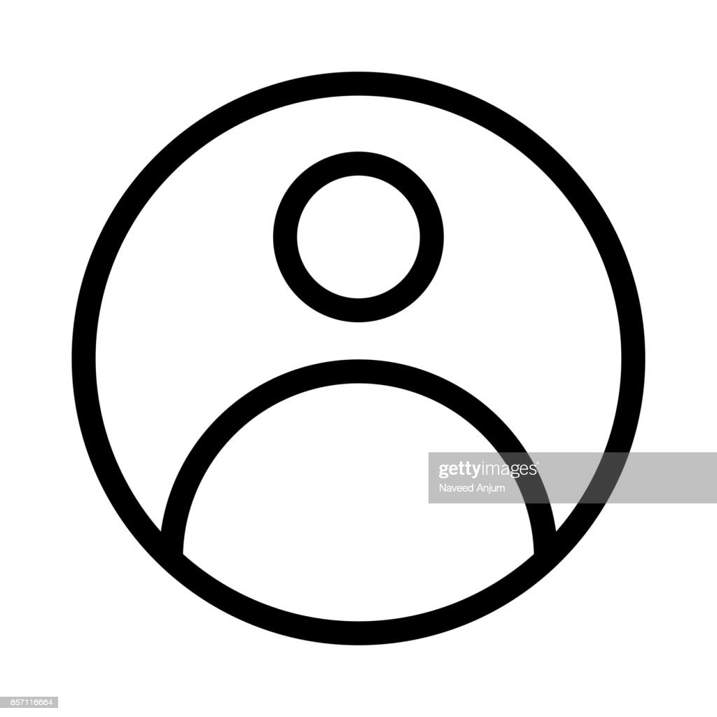 User Thin Line Vector Icon