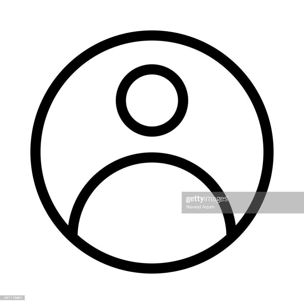 User Thin Line Vector Icon