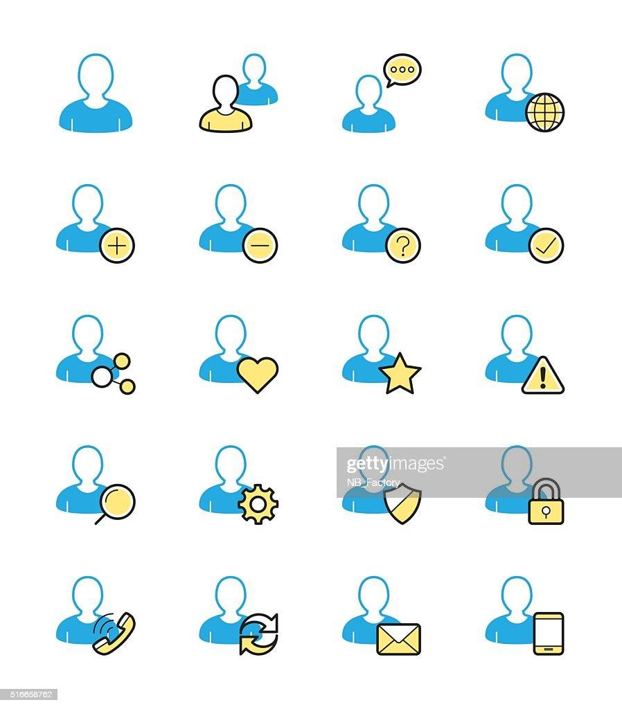 User website icon, Monochrome color - Vector Illustration
