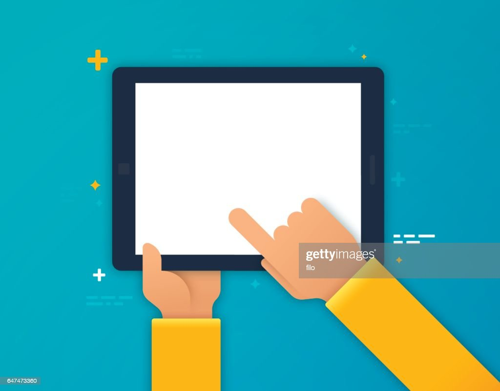 Using a Mobile Device : Stock Illustration