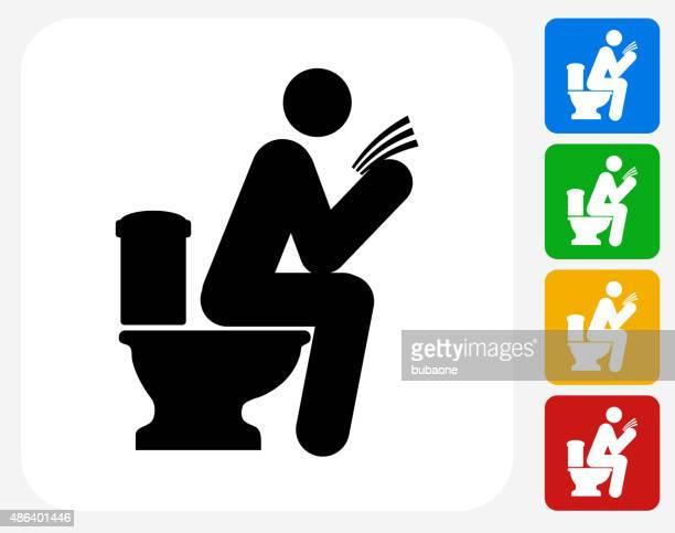 using toilet icon flat graphic design - feces stock illustrations, clip art, cartoons, & icons
