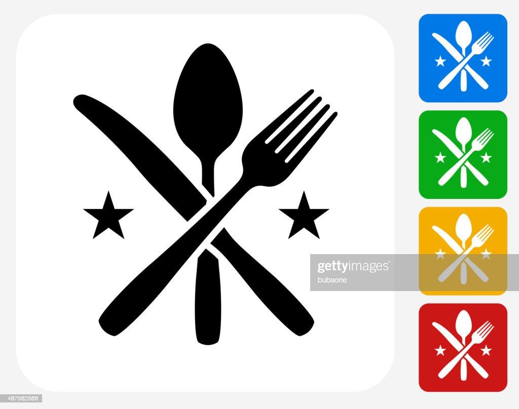 Utensils Icon Flat Graphic Design