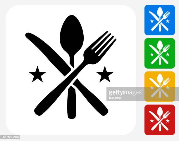 Geschirr Symbol flache Grafik Design