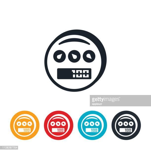 utility meter icon - light meter stock illustrations, clip art, cartoons, & icons