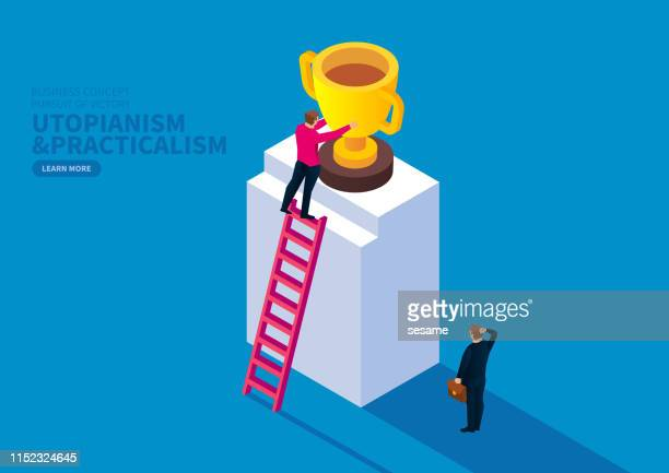 utopianism and practicalism - incentive stock illustrations, clip art, cartoons, & icons