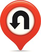 U-turn map pointer