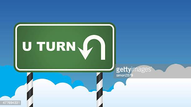 no u turn stock illustrations and cartoons getty images