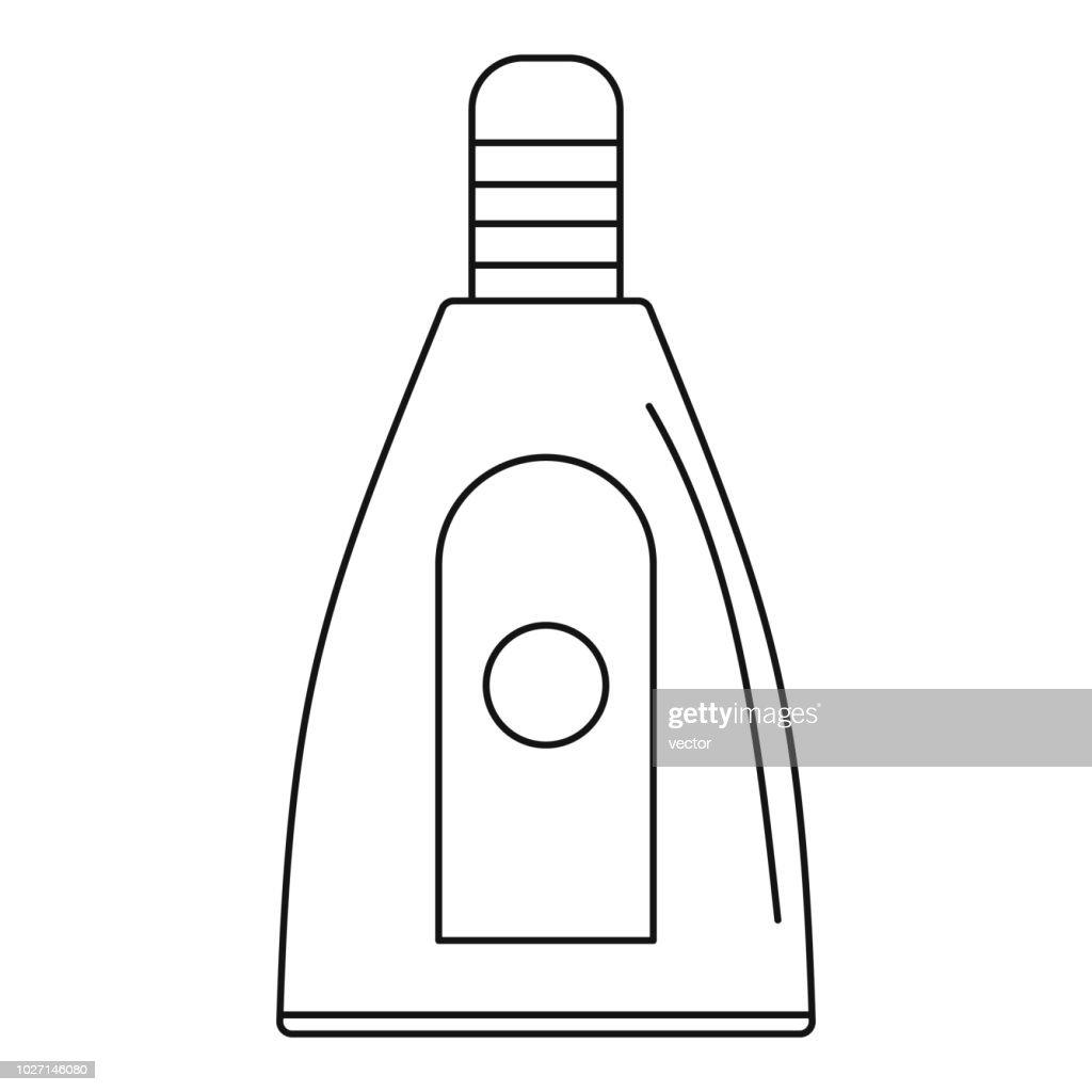 Uv bottle icon, outline style