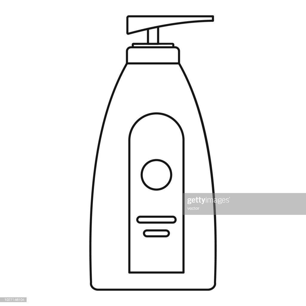 Uv dispenser cream icon, outline style