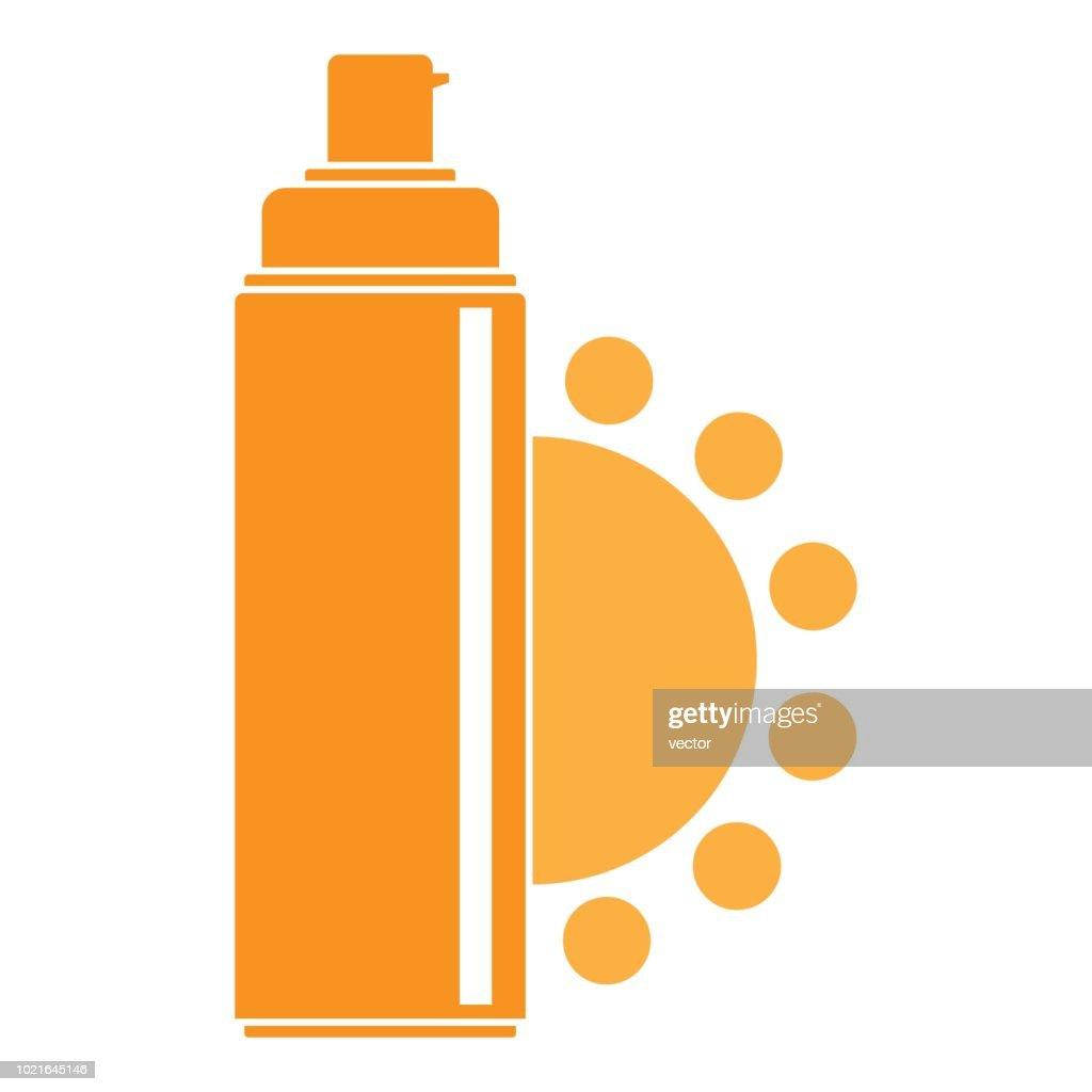 Uv spray logo, flat style