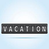 Vacation departure board