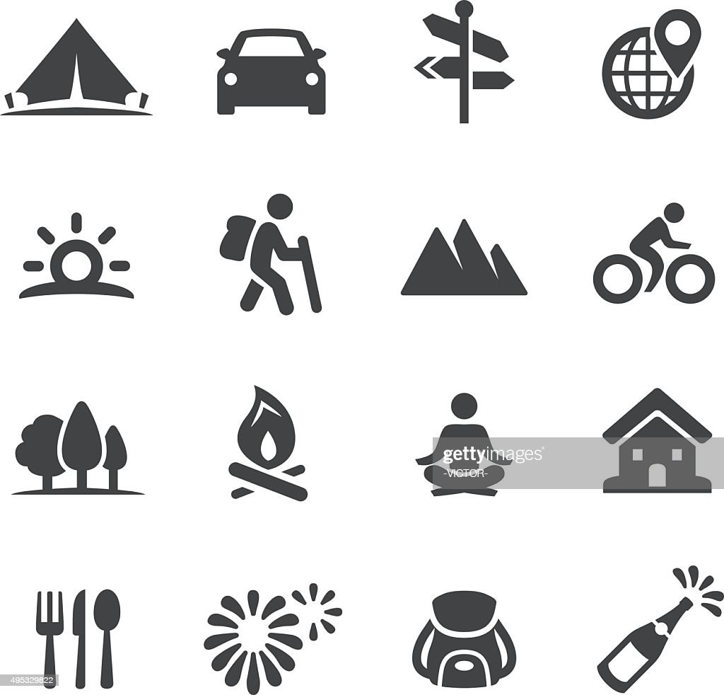 Vacation Icons - Acme Series : stock illustration