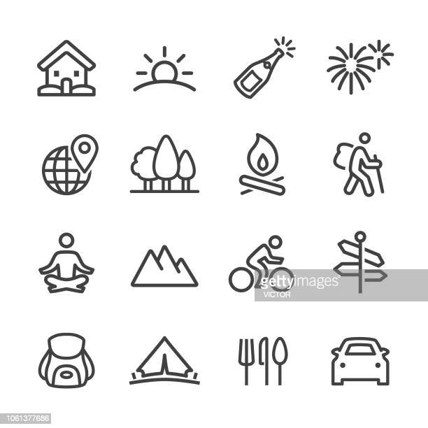 Vacation Icons - Line Series