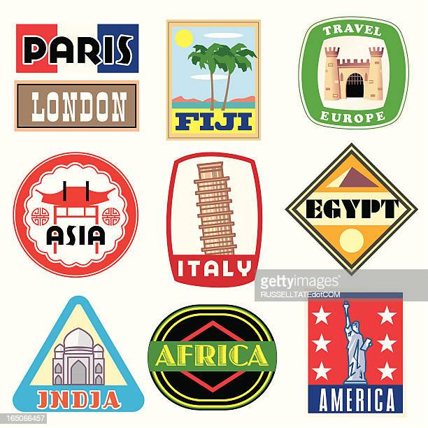 vacation icons - travel tag stock illustrations, clip art, cartoons, & icons