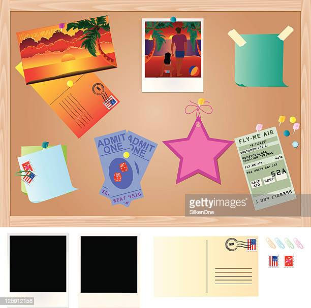 vacation memories - gift tag note stock illustrations, clip art, cartoons, & icons