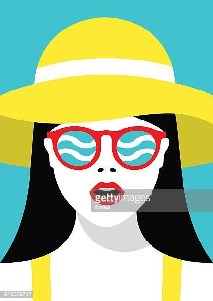 illustrations, cliparts, dessins animés et icônes de vacation or journey concept vector illustration - femme bcbg