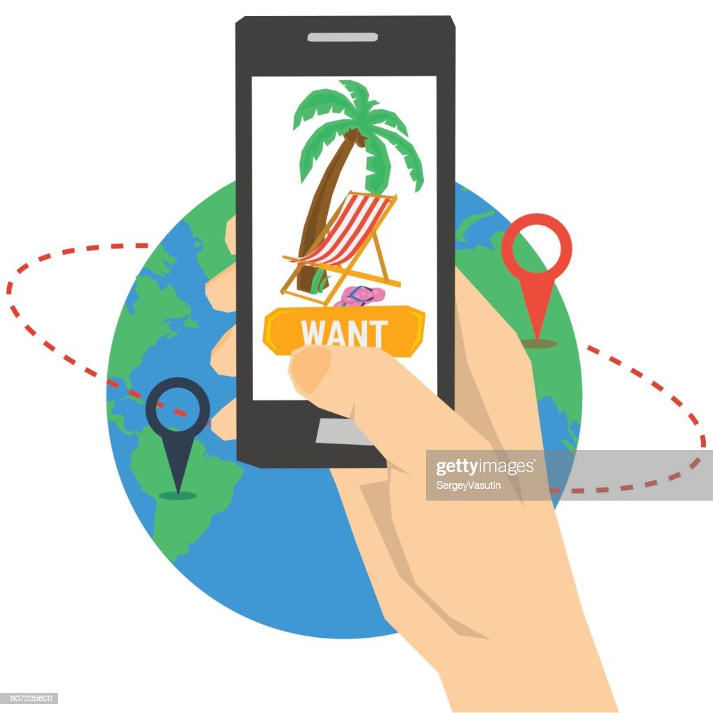 Vacation planning with smart phone