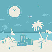 Vacation theme and Beach