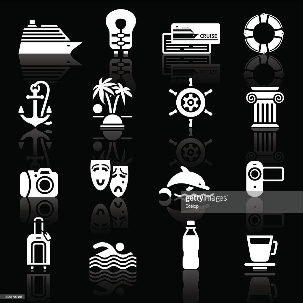 Vacation & Travel, Recreation. icons set
