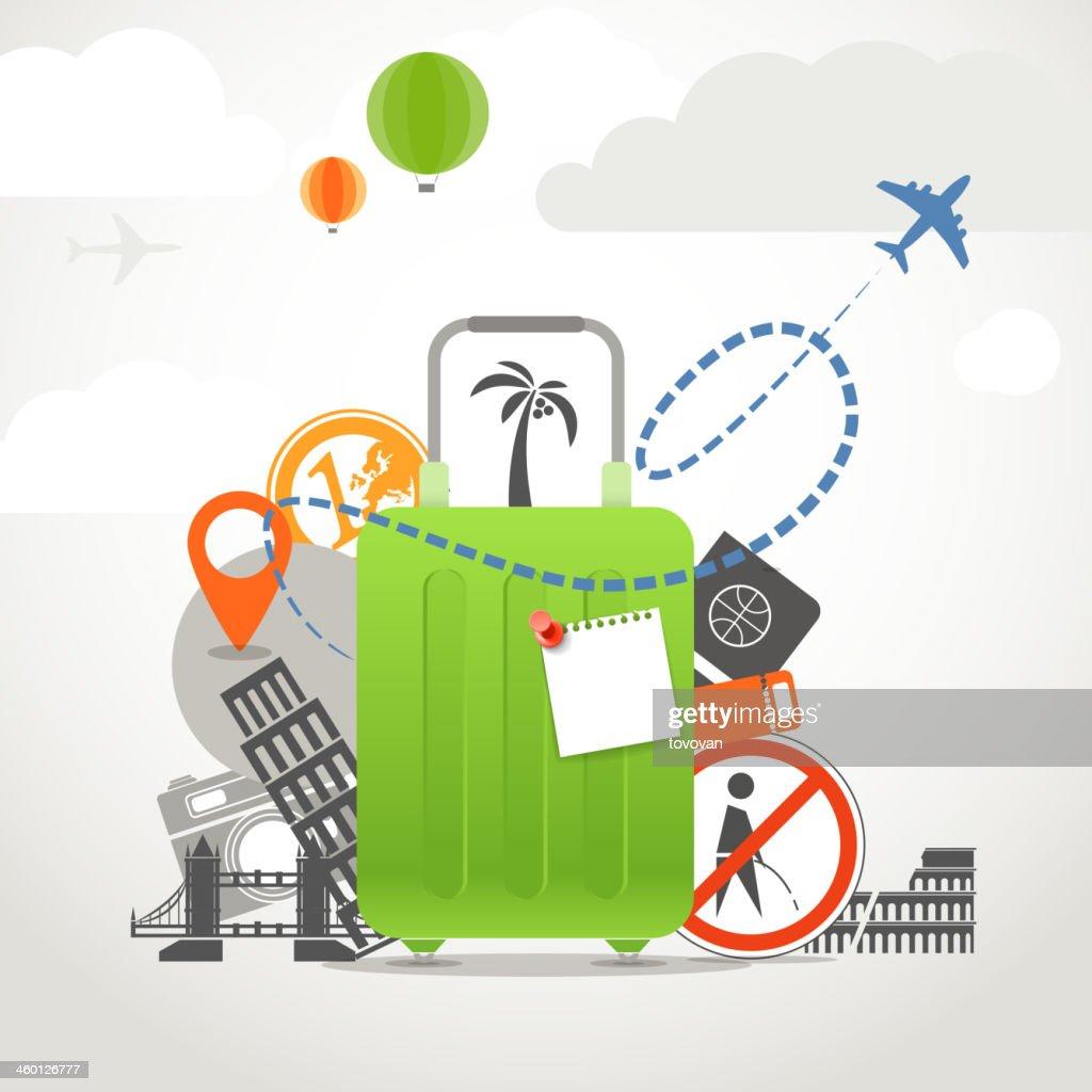 Vacation travelling illustration