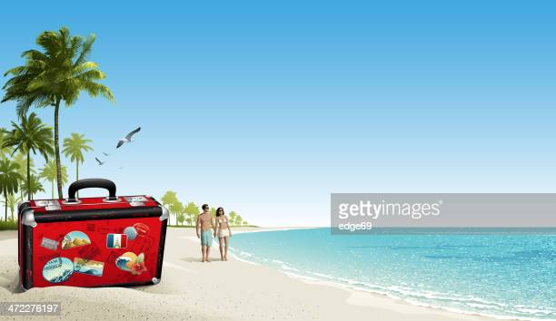 vacation - holiday travel stock illustrations, clip art, cartoons, & icons