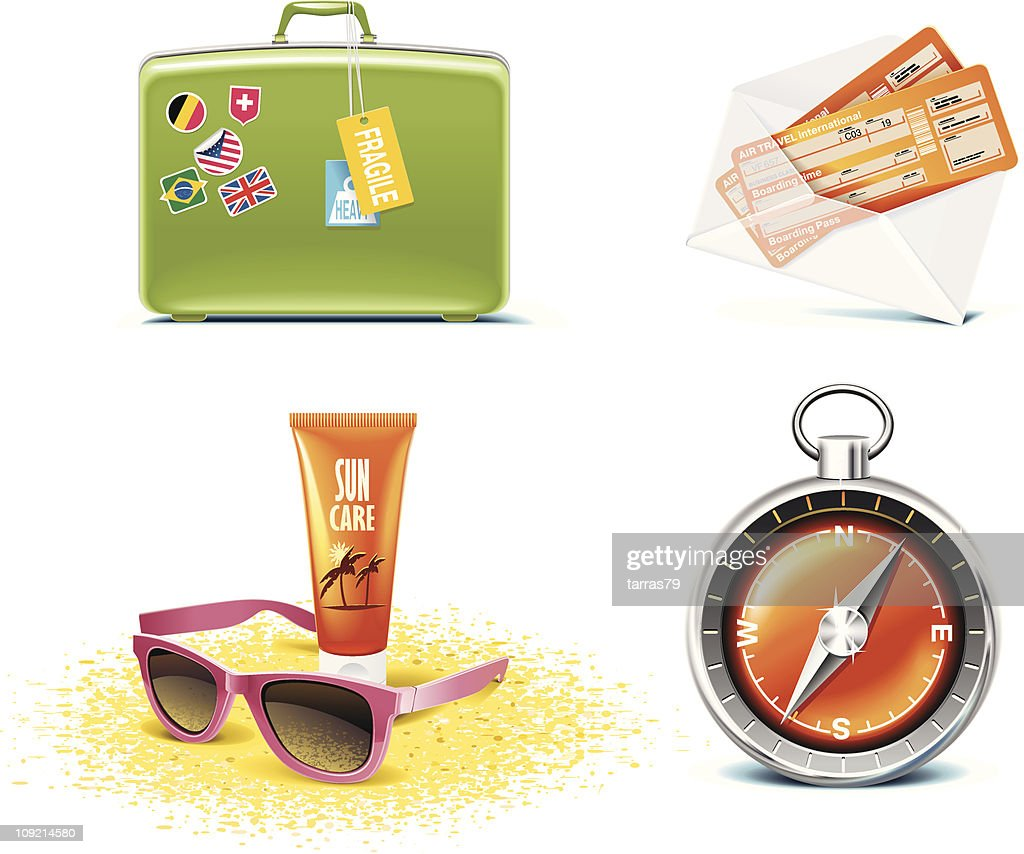 Vacations icon set