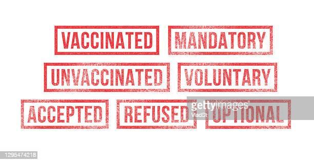impf-stempel pflichtimpfstoff - bekommen stock-grafiken, -clipart, -cartoons und -symbole