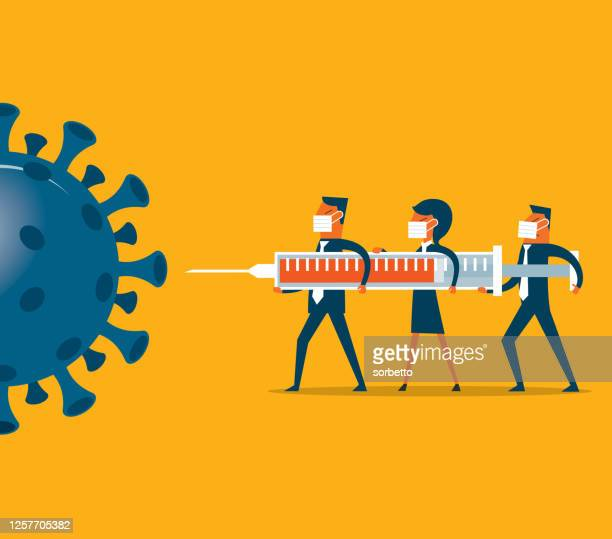 vaccine for coronavirus - viral shedding stock illustrations