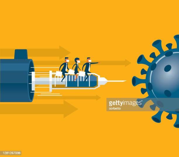 vaccine - new coronavirus - viral shedding stock illustrations