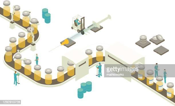 vaccine production illustration - generic drug stock illustrations