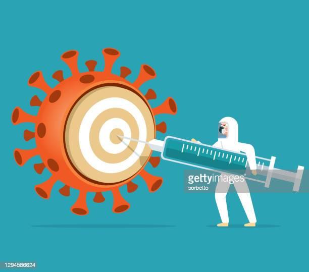 covid-19ワクチン - アレルギー点のイラスト素材/クリップアート素材/マンガ素材/アイコン素材