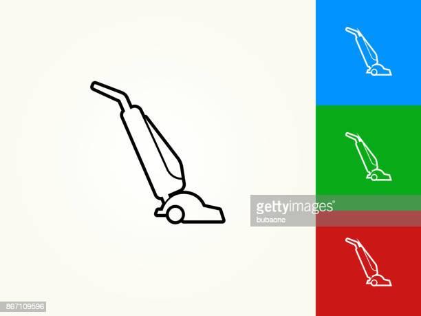 vacuum black stroke linear icon - vacuum cleaner stock illustrations, clip art, cartoons, & icons