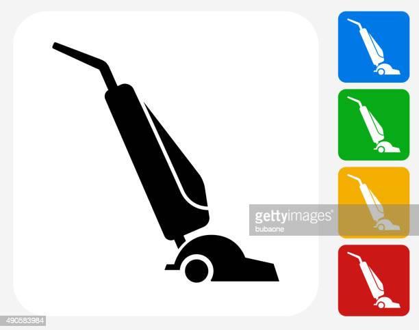 vacuum icon flat graphic design - housework stock illustrations
