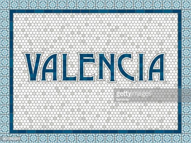 ilustrações, clipart, desenhos animados e ícones de tipografia de antiquados da telha velha valencia - valencia spain