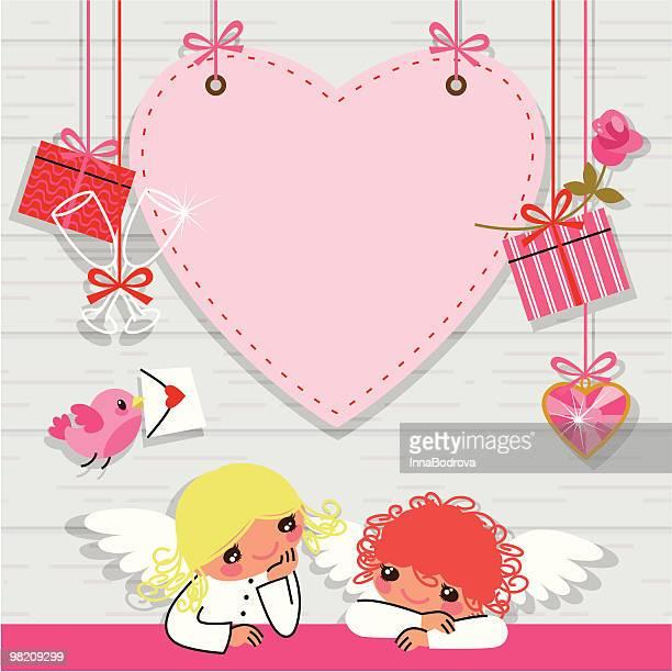 ilustraciones, imágenes clip art, dibujos animados e iconos de stock de tarjeta del día de san valentín. - carta de amor