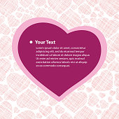Valentine Card with Hearts Background