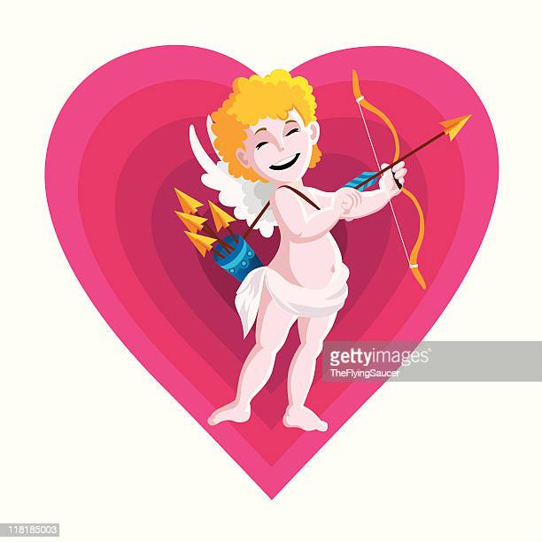 valentine cupido - cupido stock illustrations, clip art, cartoons, & icons