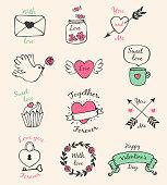 Valentine decorative elements