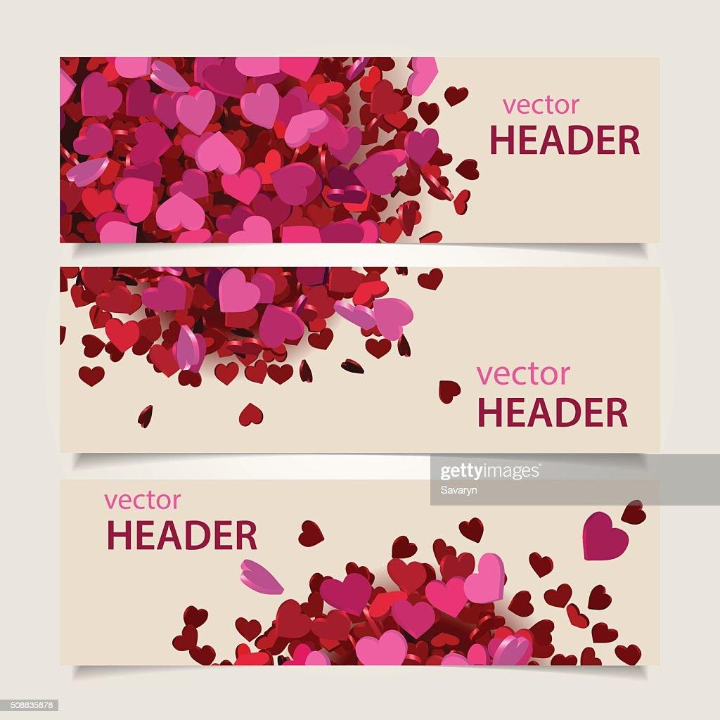 valentine headers set