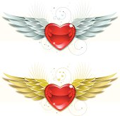 Valentine Heart and Wings v3