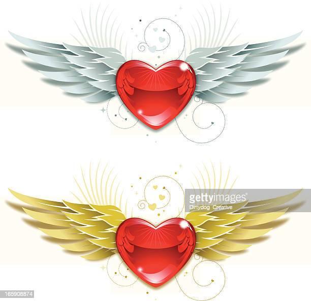 Dia dos Namorados coração e asas v3