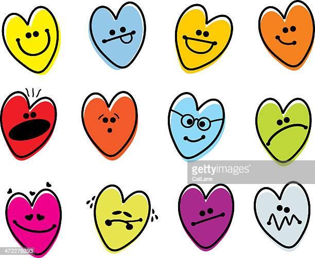 Valentinstag Herz Emoticons