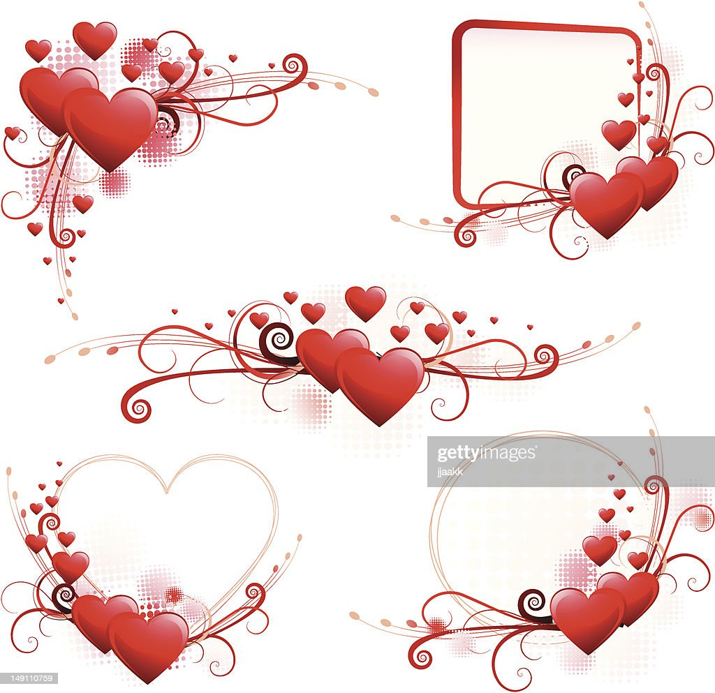 Valentine Heart Frame Vector Art | Getty Images