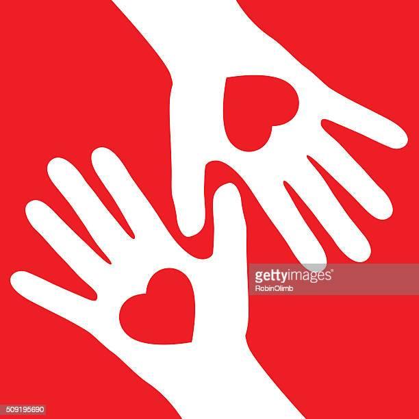 Valentinstag Herz-Hände