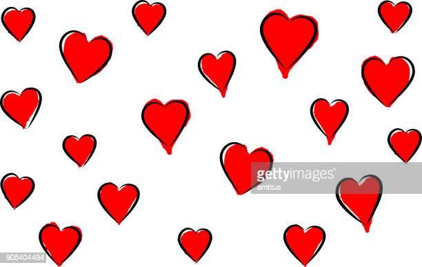 ilustraciones, imágenes clip art, dibujos animados e iconos de stock de corazones de san valentín - flotando en el aire