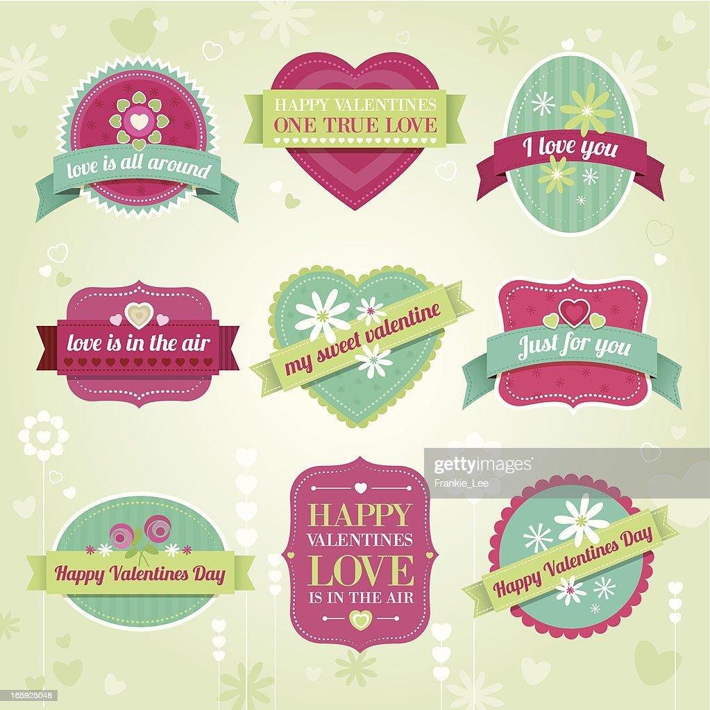 Valentine labels : Vector Art