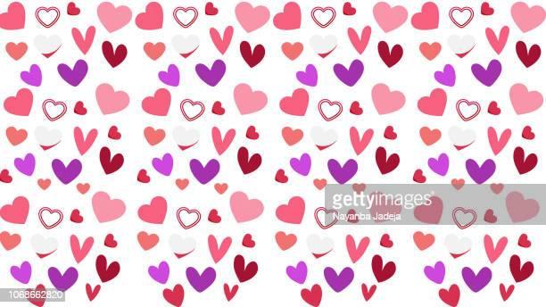 Valentinstag Liebe abstrakte nahtlose Hintergrundmuster